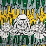 White MF Doom - techniques mixtes sur toile - Salamech 2012